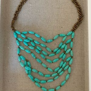 Noonday Collection Paper Bead Bib Necklace